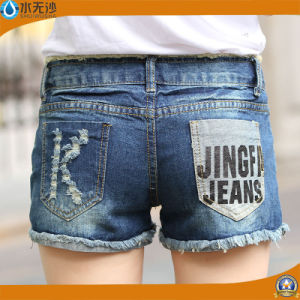 New Ripped Women′s Jeans Shorts Summer Denim Fashion Printing Shorts pictures & photos
