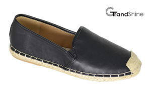 Women′s PU Casual Espadrille Flat Shoes pictures & photos