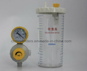 BS-Type Medical VAC Regulator W/ 2000ml Waste Collection Bottle pictures & photos