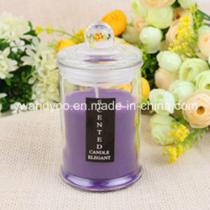 Scented Soy Romantic Candle in Tall Glass with Lid pictures & photos