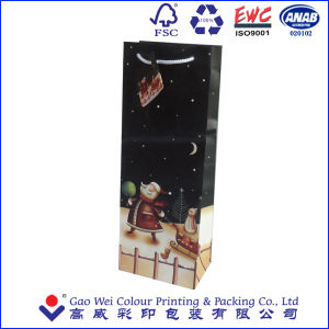 Cute Paper Carrier Bag/Paper Packaging Wine Bag/Christmas Paper Bag for Christmas Day pictures & photos