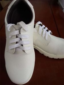 ESD Cleanroom White Safety Shoes