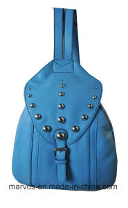 New Fashion PU Leather Women Backpack with Hight Quality (M10492)