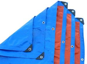 Striped Tarpaulin High Quality PE Tarpaulin Manufacturer Price Blue PE Waterproof Tarpaulin