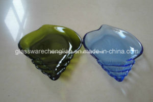 Conch Shape Colorful Small Glass Plate (P-10) pictures & photos
