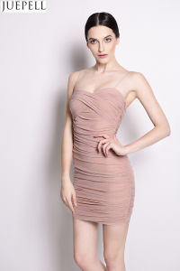2016 New Sexy Strapless Back Waist Straps Tight Low-Cut Package Hip Women Dresses pictures & photos