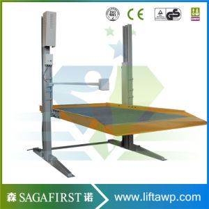 2 Two Post Vertical Home Hydraulic Lift for Cars pictures & photos