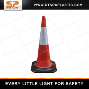 1 Meter 5kgs PE Plastic Traffic Cone with Rubber Base pictures & photos