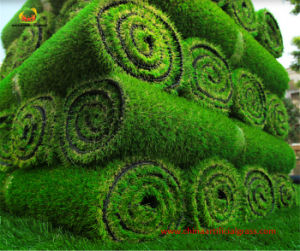 Premium Natural Green Landscape Synthetic Grass with RoHS Test Report