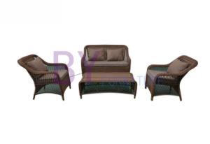 Classical Elegant Rattan Garden Floral Sofa Set pictures & photos
