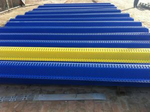 4m High Perforated Steel Windbreak Fence Wall China Anping Factory pictures & photos