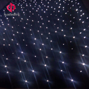 Whole White LED Starlit Curtain for Live Wedding Party Show Whit Twinkling Sky Star curtain pictures & photos