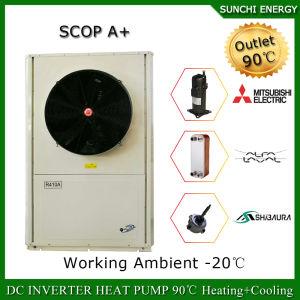 Evi Tech. -25c Winter House Floor Heating 100~300sq Meter 12kw/19kw/35kw Auto-Defrost Cop Split Inverter Heat Pump Water Heater pictures & photos