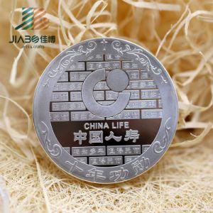 Antique Bronze 2′′ Custom Zinc Alloy 3D Medallion Coin Souvenir with Enamel pictures & photos
