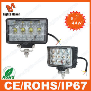 Convex Lens LED Light IP67 44W LED Auto Light Lml-0444t Spot/Flood Beam LED Work Light 44W