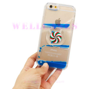 Fashion Rotatory Compass Pinkwheel Flowing Liquid Oil Phone Case for iPhone5/6/6plus pictures & photos