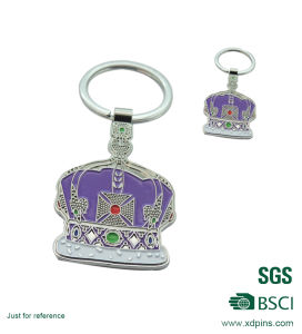 Crown with Soft Enamel Keychain Pendant Fashion W-254 pictures & photos