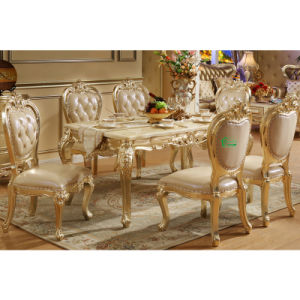 Wood Table with Dining Chair for Dining Room Furniture (681)