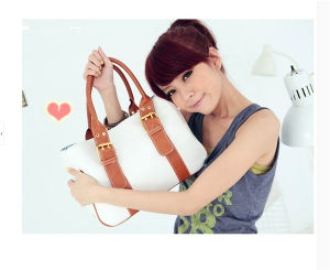 Fashion High Quality 4 Colors Women Canvas Handbag pictures & photos