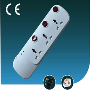 Three Way, Universal Extension Electrical Socket with Switch pictures & photos