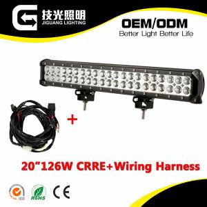 20inch 126W LED Light Bar Flood Spot Work Light for Offroad 4WD Truck ATV