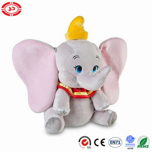 Kids Gift Sitting Grey Blue Eyes Elephant Plush Stuffed Toy pictures & photos