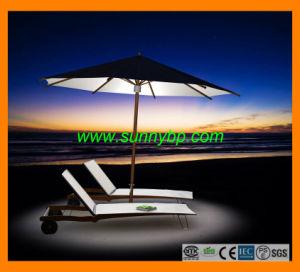Professional Design Garden Solar Beach Umbrella pictures & photos
