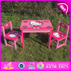 2015 Wooden Writing Table and Chair Sets, Children Wooden Table and Chair, Kids Table and Chair for Studying W08g161 pictures & photos