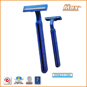 Twin Stainless Steel Blade Disposable Razor for Man (LY-2360) pictures & photos