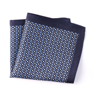 Fashionable Silk Polyester Dots Flower Printed Pocket Square Hanky Handkerchief (SH-064) pictures & photos