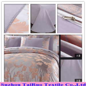 100% Polyester Satin Jacquard Bed Sheet pictures & photos