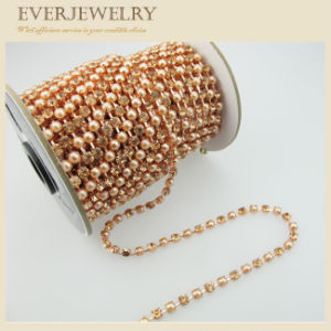 Decorative Crystal Rhinestone and Pearl Cup Chain pictures & photos