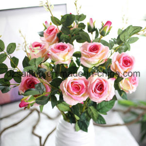 artificial Velvet Wedding Rose Flower for Decoration (SW03333)