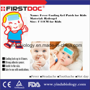 Mnaufacturer OEM/ODM Best Price High Quality CE FDA ISO 4*11cm Fever Cooling Gel Patch for Baby