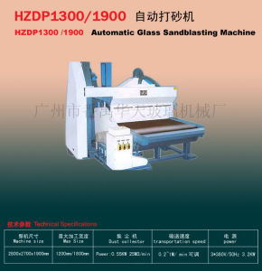 Automatic Glass Edging Machine/Glass Sandblasting Machine (HZDP1300 /1900) K35 pictures & photos