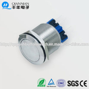 22mm 1no 1nc Resetable Self-Locking Flat IP67 Ik10 Push Button Switch pictures & photos