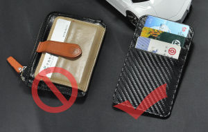 Top Quality Fashion Carbon Fiber PU Business Name Card Holder pictures & photos