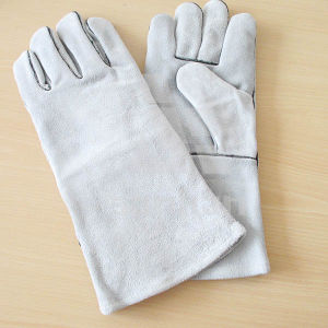 Full Palm Welding Safety Glove with Leather Ab/Bc Grade pictures & photos