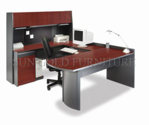 Popular Credenza Shell Office Table Design Photo with U-Shape (SZ-OD380) pictures & photos