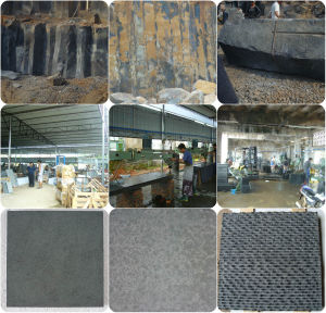 Polished Flamed Honed Sandblasted Bushammered Chiseled Basalt pictures & photos