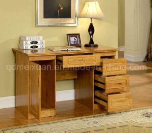 Oak Solid Wood Office Desk Study Desk Study Room Furniture Modern Style (M-X2496) pictures & photos