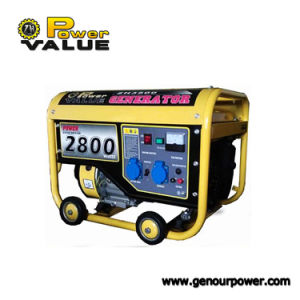 Hot Sale Genour Power Best Price 168f 2.8kw/kVA Gasoline/Petrol Generator Set Recoil Start Air Cooled 100% Copper BS Socket pictures & photos