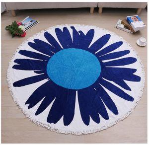 100% Cotton Printed Round Beach Towel