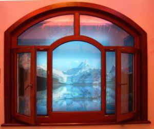 High-Class Woodgrain Aluminium Arch Casement Window (BHA-CWA04) pictures & photos