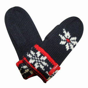 Women Fashion Acrylic Knitted Winter Warm Mittens (YKY5429) pictures & photos