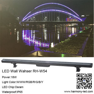 Outdoor 18X1w Waterproof Lighting LED Wall Washer pictures & photos