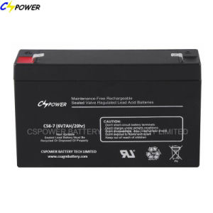 6V 14ah Sealed Rechargeable UPS Lead Acid Battery CS6-14D pictures & photos