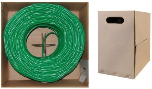 UTP CAT6 Ethernet LAN Cable 305m Fluke-Tested 10/100/1000 Base Green pictures & photos