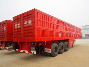 High Quality 3 Axle Van/Box Coal Carrying Semi Trailer