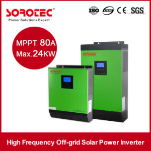 2KVA 24VDC DC AC Pure Sine Wave Power Inverter with 50A PWM Solar Charger pictures & photos